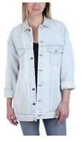 Alexander Wang Women's Daze Oversized Denim Jacket In Bleach.