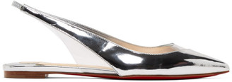 Christian Louboutin Silver and Transparent V Dec Ballerina Flats