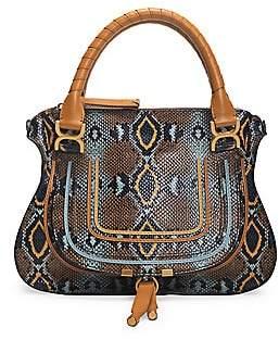 Chloé Women's Medium Marcie Python-Embossed Leather Satchel
