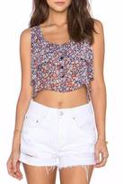 BCBGeneration Ruffled Crop Top