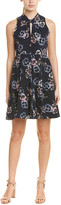 Rebecca Taylor Faded Knot Silk A-Line Dress