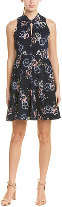 Rebecca Taylor Faded Knot Silk A-Line Dress