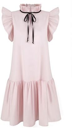 Monica Nera Angela Pink Cotton Dress