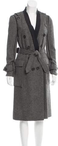 Chloé Twill Wool Coat