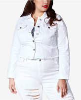 mblm by Tess Holliday Trendy Plus Size Cropped Denim Jacket