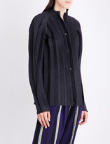 Issey Miyake Stand-collar pleated jacket