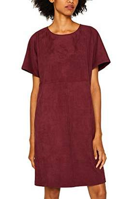 Esprit Women's 089ee1e0 Dress, (Bordeaux Red 600), (Size: )