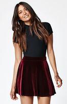 La Hearts Velvet Swing Skirt