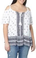 Evans Plus Size Women's Print Off The Shoulder Top