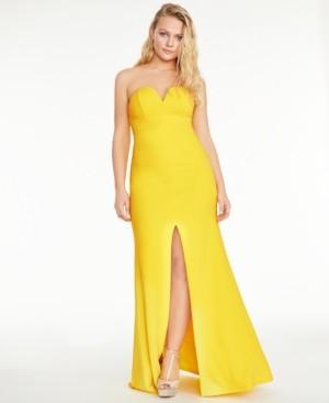 B. Darlin Juniors' Strapless Sweetheart Gown
