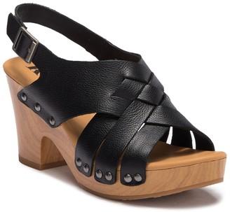 KORKS Berengo Leather Block Heel Sandal