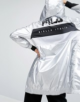 Fila Zip Through Metallic Hooded Jacket