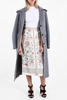 Vilshenko Floral Button Down Skirt