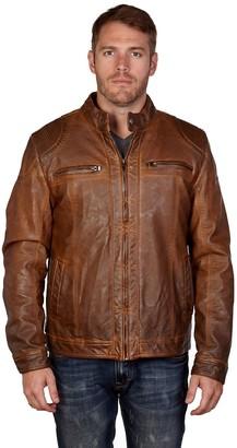 X-Ray Xray Men's XRAY Detailed Faux-Leather Jacket