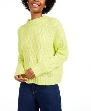 Hooked Up By Iot Hooked Up by Iot Juniors' Cable-Knit Sweater