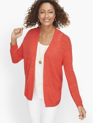 Talbots Dropped Shoulder Open Cardigan