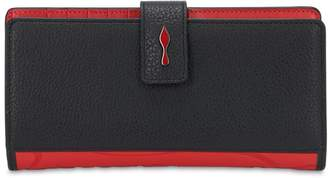 Christian Louboutin PALOMA GRAINED LEATHER & RUBBER WALLET