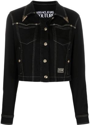 Versace Jeans Couture Embossed Tip Denim Jacket