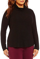 Westbound Plus Long Sleeve Cowl Neck Top