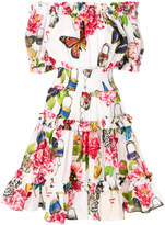 Dolce & Gabbana shirred butterfly dress