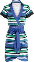Dl120 Graphic Stripe Shirt Dress Blue/multi