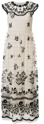 RED Valentino floral embroidered maxi dress