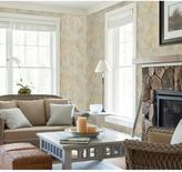 Chesapeake 56.4 sq. ft. Fern Cottage Sky Leaf Toss Wallpaper
