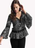 Ella Moss Adriana Lace Trim Top