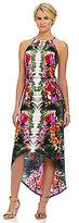 London Times Hi-Low Maxi Dress