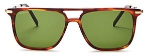 Salvatore Ferragamo Men's Polarized Brow Bar Square Sunglasses, 57mm