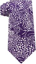 Sean John Men's Botanical Paisley Print Silk Tie