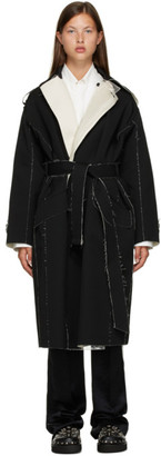 Toga Black Wool Trench Coat