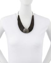 Donna Karan Leather Torque Necklace