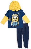 Nannette Boys 2-7 Hooded Minion Tee and Sweatpants Set