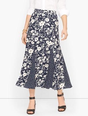 Talbots Floral & Dots Midi Skirt