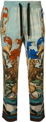 Dolce & Gabbana Amore e Bellezza print relaxed-fit trousers
