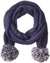 Keds Women's Herringbone Knit Pom Scarf