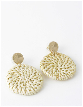 Piper Circle Straw Earring