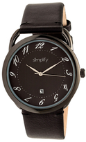 Simplify The 4900 Black Dial Watch, 41mm