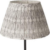 OKA 55cm Pleated Daun Cotton Lampshade