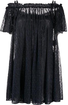 Missoni Off-The-Shoulder Glitter Mini-Dress