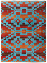 "Dakota American Sacred Trail Rug, Red Burst, 2'8""x3""11"""