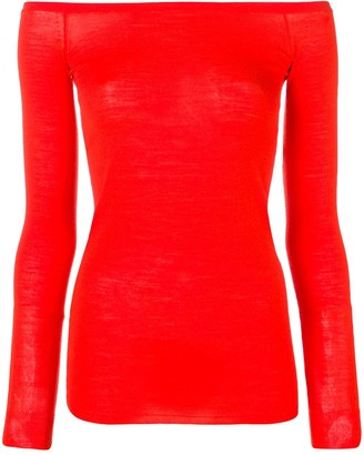 Stella McCartney boat neck knit top