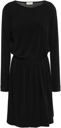 By Malene Birger Pleated Stretch-crepe Mini Dress