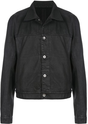 Rick Owens waxed style denim jacket