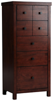 Willis & Gambier Kerala 5 Drawer Tall Chest, Rich Cherry