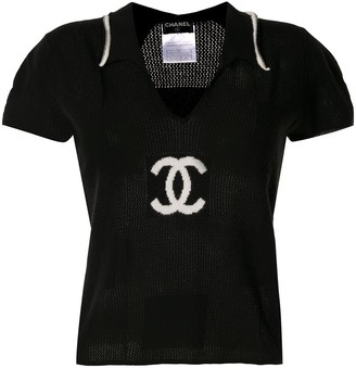 Chanel Pre Owned 2001 knitted CC short-sleeved T-shirt