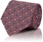 Isaia Men's Floral & Dot-Pattern Silk Necktie
