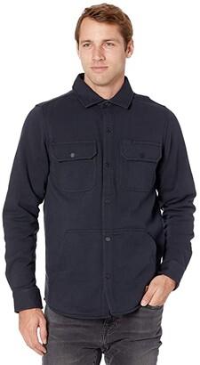 Timberland Mill River Fleece Shirt Jacket (Dark Navy) Men's Clothing