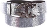 Just Cavalli Metallic Logo Belt